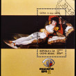������, ������: GUINEA BISSAU CIRCA 1984: A stamp printed in Guinea Bissau shows The Clothed Maja by Francisco de Goya circa 1984