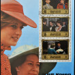 NORTH KOREA - CIRCA 1982: A stamp printed in DPR Korea shows Princess Diana of Wales after the birth of Prince William, circa 1982 - Foto de Stock  