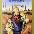 HUNGARY - CIRCA 1984: A stamp printed in Hungary shows Raffaello Santi: Esterhazy Madonna, circa 1984 - Foto de Stock  