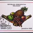 MADAGASCAR - CIRCA 1992: A stamp printed in Madagascar shows fruit center, circa 1992 - Foto de Stock  