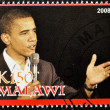 Stamp shows Barack Obama — Stock Photo