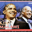 Stamp shows Barack Obama - Stockfoto