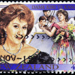 NEW ZEALAND - CIRCA 1995: A stamp printed in New Zealnda shows the soprano Dame Kiri Te Kanawa, circa 1995 - Stockfoto