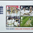 UNITED KINGDOM - CIRCA 2005: A stamp printed in Great Britain shows england cricket winners 2005 - Stockfoto