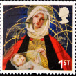 UNITED KINGDOM - CIRCA 2005: A stamp printed in the United Kingdom shows image of Mary and baby Jesus, circa 2005 - Foto de Stock  