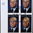UNITED STATES OF AMERICA - CIRCA 2007: A stamp printed in USA shows President Gerald R Ford, circa 2007 - Foto de Stock  