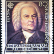 GERMANY - CIRCA 1985: A Stamp printed in the GERMANY shows portrait of the composer Johann Sebastian Bach, circa 1985. - Foto de Stock  