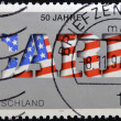 GERMANY- CIRCA 1995: A stamp printed by Germany, shows text care 50th anniversary, circa 1995. — Stock Photo
