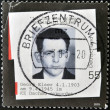 GERMANY - CIRCA 2003: A stamp printed in Germany shows photograph of Georg Elser, who tried to assassinate Adolf Hitler, circa 2003 - Stockfoto
