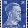 GERMAN REICH - CIRCA 1942: A stamp printed in Germany shows image of Adolf Hitler, series, 1942 — Stock Photo