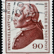 GERMANY- CIRCA 1974: A stamp printed by Germany, shows portrait Immanuel Kant, circa 1974. — Stock Photo