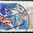 GERMANY- CIRCA 1997: stamp printed by Germany, shows flag and Marshall, circa 1997. - Stock Photo