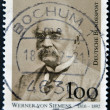 GERMANY - CIRCA 1999: A stamp printed in Germany showing the inventor and founder of the company Siemens, Werner von Siemens, circa 1999 - Stock Photo