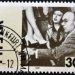 GERMANY - CIRCA 2000: A stamp printed in Germany shows Kurt Weill playing the piano, circa 2000 - Stock Photo