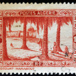 ALGERIA - CIRCA 1936: A stamp printed in Algeria shows Touggourt (marabout), circa 1936 - Stock Photo