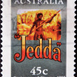 AUSTRALIA - CIRCA 1995: A stamp printed in Australia commemorating centenary of cinema, shows film Jedda, circa 1995 - Stock Photo