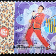 AUSTRALIA - CIRCA 1998: A stamp printed in Australia shows Johnny O&#039;Keefe , circa 1998 - Stock Photo
