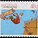 AUSTRALIA - CIRCA 1990: A stamp printed in Australia shows Skateboarding, circa 1990 — Stock Photo #7378001