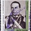 Stock Photo: BOLIVI- CIRC1974: stamp printed in Bolivishows Villarroel in fourth centenary of founding of Cochabamba, circ1974