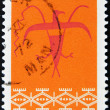 Stock Photo: CANAD- CIRC1972: stamp printed by Canada, shows Thunderbird Assiniboin Pattern, circ1972
