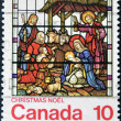 Royalty-Free Stock Photo: CANADA - CIRCA 1976: stamp printed by Canada, shows christmas, circa 1976