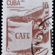 Stamp printed in Cuba honored Traditional Cuban exports shows coffee - Stock Photo