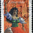 Stamp shows Esmeralda, starred with Quasimodo in novel Notre Dame — Stock Photo #7378267