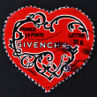Stamp shows heart of Givenchy - Stock Photo