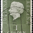 Stamp shows image of Queen Juliana - Stock Photo