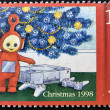 Stamp shows Po, a teletubbies, — Stock Photo