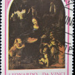 Royalty-Free Stock Photo: Stamp shows Virgin of the Rocks by Leonardo da Vinci