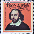 Stamp shows William Shakespeare - Stock Photo