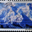 Stock Photo: Stamp shows image of Mount McKinley in Alaska