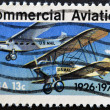 Stamp shows planes - Stock Photo