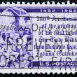Stamp shows Johannes Gutenberg — Stock Photo