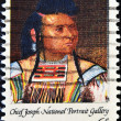 Stamp shows Chief Joseph, a leader of the Nez Perce Indians i — Stock Photo