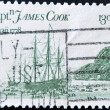 Stamp shows Captain James Cook — Stock Photo