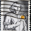 Royalty-Free Stock Photo: Stamp shows image portrait Nicolaus Copernicus
