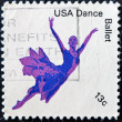 Stock Photo: Stamp shows American Ballet dance