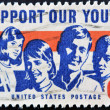 Stamp shows Girls and Boys — Stock Photo