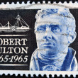 Stamp shows robert fulton — Stock Photo
