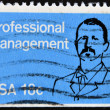 Stamp shows Joseph Wharton, Professional Management — Photo