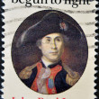 Stamp shows John Paul Jones, Naval Commander — Stock Photo