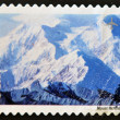 Stamp shows image of Mount McKinley in Alaska — Stock Photo