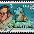 A stamp shows Nathaniel Palmer — Foto Stock