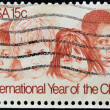 Stamp commemorates International Year of the Child — Stock Photo