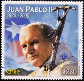 CHILE - CIRCA 2005: A stamp printed in Chile shows pope John Paul II, circa 2005 — 图库照片