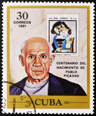 CUBA - CIRCA 1981: A stamp printed in Cuba shows Pablo Picasso, circa 1981 — Stock Photo
