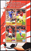 Stamp shows top football players of the world — Stock Photo