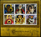 UNITED KINGDOM - CIRCA 2005: A stamp printed in the United Kingdom shows image of Mary and baby Jesus, serie, circa 2005 — Stock Photo